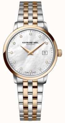 Raymond Weil Womans Two Tone Rose Gold Diamond Dot 5988-SP5-97081