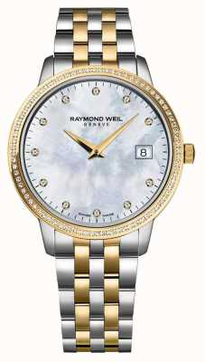 Raymond Weil Womans Toccata Watch | Two Tone Stainless Steel/PVD Strap | 5988-STP-97081