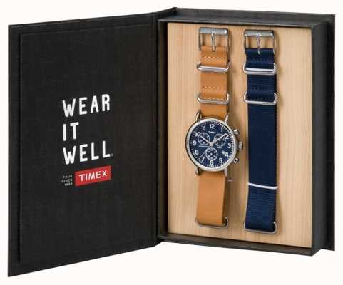 Timex Mens Weekender Chronograph Gift Set TWG012800