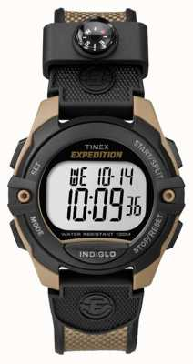 Timex Mens Expedition Chronograph Alarm Timer Brown TW4B07800