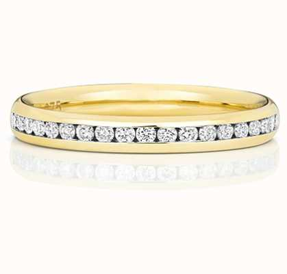 Treasure House 9k Yellow Gold 50% Diamond Set Channel Eternity Ring W220