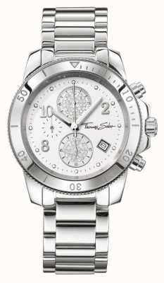 Thomas Sabo Ladies Glam Chrono Chic Silver WA0190-201-202-40