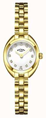 Rotary Womans Bracelet Strap Gold Plated LB05015/11