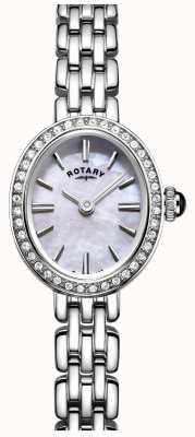 Rotary Womans Stainless Steel Cocktail Watch Mother Of Pearl LB05050/07