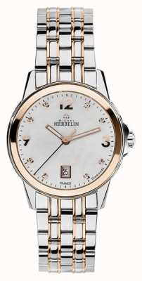 Michel Herbelin Ambassador Womans City Two Tone Analogue 14250/BTR89