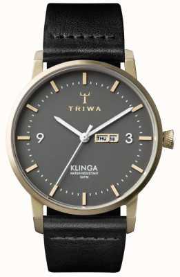 Triwa Unisex Ash Klinga Black Leather KLST107-CL010117