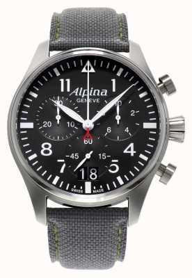 Alpina Mens Startimer Pilot Chronograph Quartz AL-372B4S6