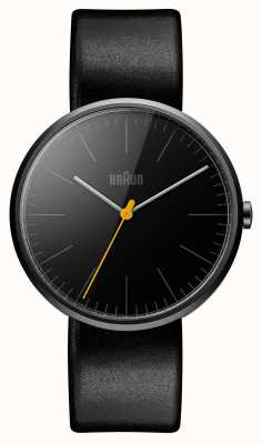 Braun Mens Slim Black Leather Strap BN0172BKBKG