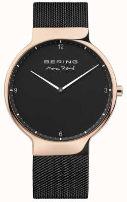 Bering Mens Max René Interchangeable Mesh Strap Black 15540-262
