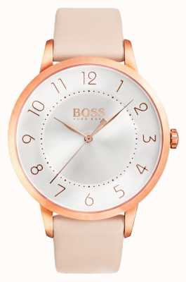 Hugo Boss Womens Eclipse Pink Leather Watch 1502407