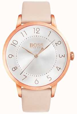 BOSS Womens Eclipse Pink Leather Watch 1502407