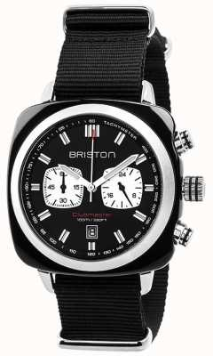 Briston Mens Clubmaster Sport Acetate Chrono Black 17142.SA.BS.1.NB