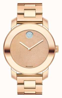 Movado bold Midsize Rose Gold Ion-plated K1 Crystal 3600335