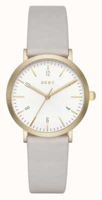 DKNY Womans Minetta Gold Toned Grey Leather NY2507