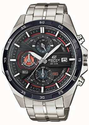 Casio Mens Edifice Stainless Steel Black Dial Chrono EFR-556DB-1AVUEF