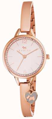 Radley Womans Love Lane Bangle Rose Gold RY4268