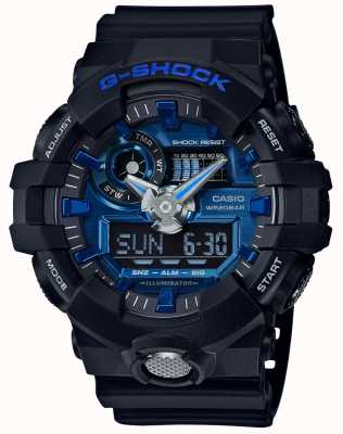 Casio Mens G-Shock Alarm Chronograph Blue GA-710-1A2ER