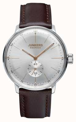 Iron Annie Mens Bauhaus Handwound Leather Strap Silver Dial 6032-5