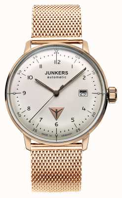 Junkers Mens Bauhaus Automatic Rose Gold Tone Plated Stainless Steel 6058M-4