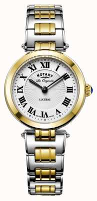 Rotary Womens Lucerne Two Tone Stainless Steel LB90188/01