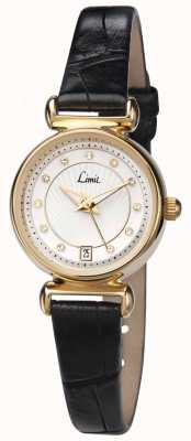 Limit Womens Black Leather Strap White Dial 6948.01