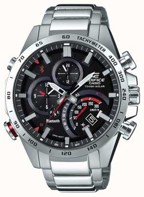Casio Edifice Bluetooth Mens Black Dial Red Accents EQB-501XD-1AER