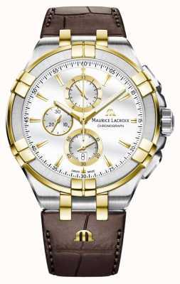 Maurice Lacroix Mens Aikon Quartz Leather AI1018-PVY11-132-1