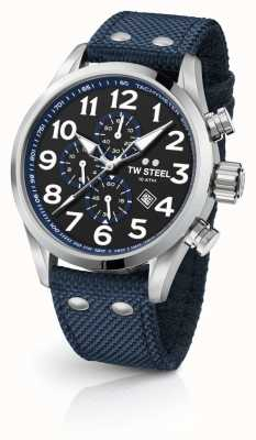TW Steel Mens Volante Blue 45mm Chronograph VS33