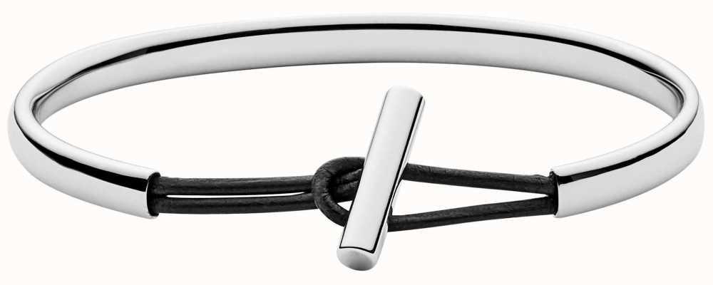 Skagen Womens Stainless Steel Leather Bangle SKJ0982040