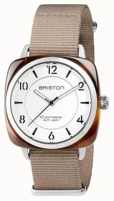 Briston Unisex Clubmaster Chic Beige Acetate Steel With Nato Strap 17536.SA.T.2.NT