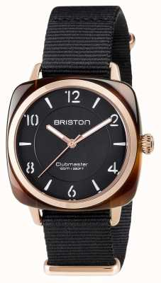 Briston Unisex Clubmaster Chic Black Acetate PVD Rose Gold 17536.PRA.T.1.NB