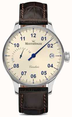MeisterSinger Mens Circularis Power Reserve Hand Wound Ivory CCP303