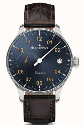 MeisterSinger Mens Circularis Power Reserve Hand Wound Sunburst Steel Grey CCP317G