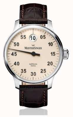 MeisterSinger Mens Classic Plus Salthora Meta Automatic Ivory SAM903