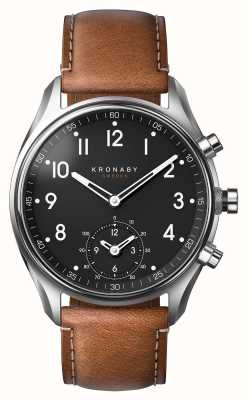 Kronaby 43mm APEX Bluetooth Brown Leather Smartwatch A1000-0729