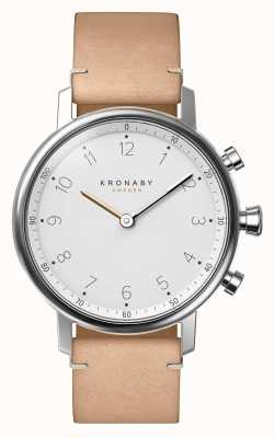 Kronaby 38mm NORD Bluetooth Beige Leather Strap Smartwatch A1000-0712
