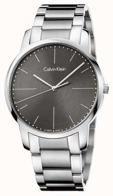 Calvin Klein Mens City Stainless Steel Bracelet Grey Dial K2G2G1Z3