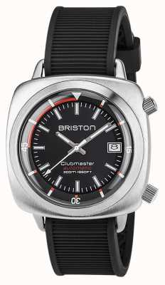 Briston Unisex Clubmaster Diver Brushed Steel Auto BlackMen's 17642.S.D.1.RB