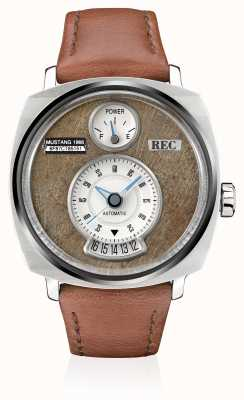 REC P51-02 Mustang Automatic Brown Leather Strap P51-02