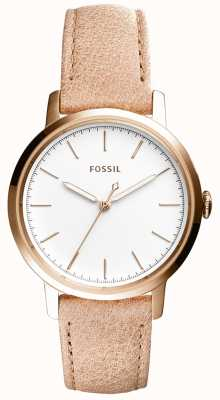 Fossil Womans Neeley Beige Leather Strap ES4185