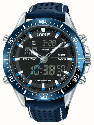 Lorus Mens Sport Analogue/Digital Chronograph Blue RW643AX9