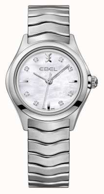 EBEL Wave Womens Diamond Set Stainless Steel Watch 1216193