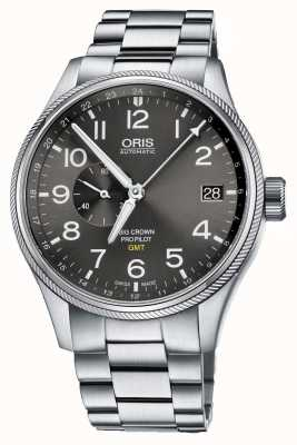 Oris Big Crown Propilot GMT Stainless Steel Black Dial 01 748 7710 4063-07 8 22 19