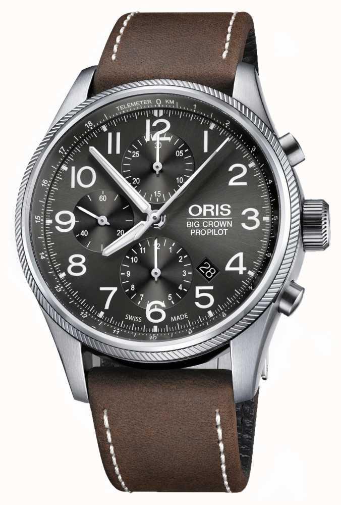 553c4c820 Oris Big Crown Propilot Automatic Chronograph Brown Leather 01 774 ...