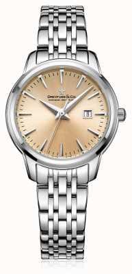 Dreyfuss Womans Champagne Dial Steel Bracelet DLB00125/25
