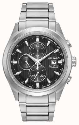 Citizen Mens Eco-drive Super Titanium Black Dial Chronograph CA0650-58E