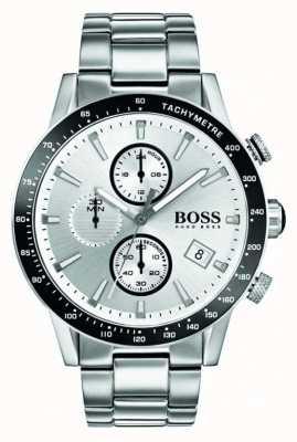 Boss Mens Rafale Chronograph White Dial 1513511