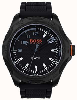 Hugo Boss Orange Mens Honolulu Watch In Black Rubber 1550032
