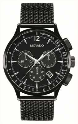Movado Mens Circa Chronograph Black Ion Plated 0606804
