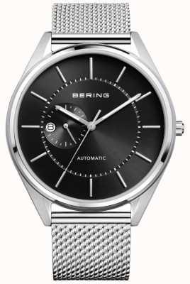 Bering Mens Automatic Milanese Silver Steel Bracelet 16243-077